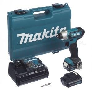 Slagskruetrækker Makita TD110DSAE; 10,8 V; 2x2,0 Ah batt.