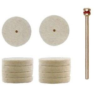 Får uld polering pude Proxxon; 22 mm; 10 stk.