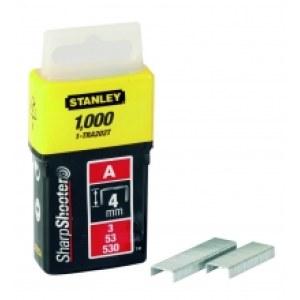 Klammer Stanley; 11,3x4 mm; 1000 stk.; type A; rustfrit stål