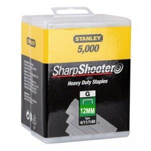 Klammer Stanley 1-TRA708-5T; 12 mm; 5000 stk.; type 4/11/140; rustfrit stål