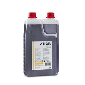 Olie til blanding af brændstofblandinger til totaktsmotorer Stiga 1111923001; 1L (med dosimeter)