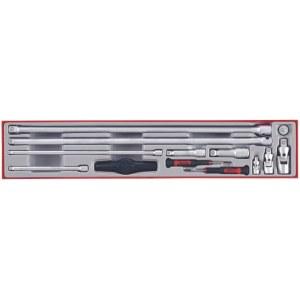 Forlængerstænger, universalforbindelser og adaptere sæt Teng Tools TTXEXT13; 13 stk.