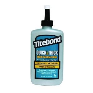 Lim til universel brug Titebond Quick & Thick Multi-Surface Glue; 237 ml